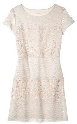 Xhilaration Junior's Lace Detail Shift Dress - Assorted Colors