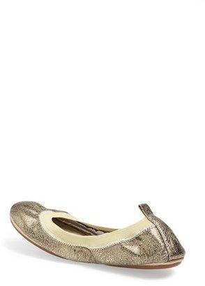 Yosi Samra Metallic Foldable Ballet Flat