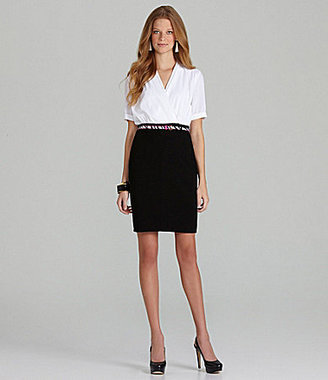Calvin Klein Belted Combo Dress