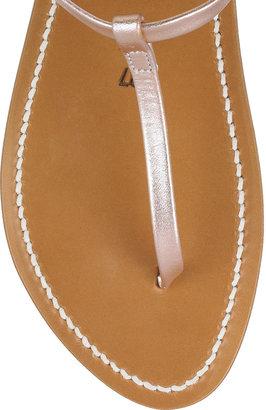K Jacques St Tropez Metallic leather T-bar sandals