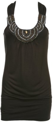 Charlotte Russe Ethnic Beaded Top