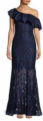 Xscape Evenings Off-the-Shoulder Lace Mermaid Dress