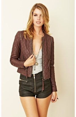 Rebecca Taylor Quilted Leather Jacket
