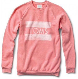 Toms Women's heather coral classic crew