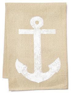 Anchor Tea Towel, White/Natural