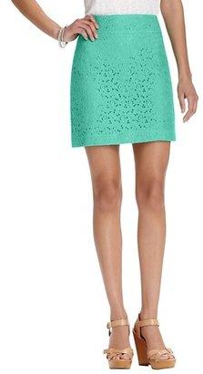 LOFT Petite Lace Overlay Shift Skirt