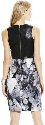 Vince Camuto Faux Leather Fitted Dress