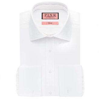 Thomas Pink Detachable Collar Plain Classic Fit Double Cuff Shirt