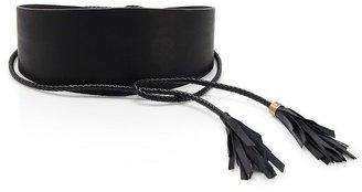HUGO BOSS 'Mabelle' | Leather Tie-Front Belt by BOSS Orange