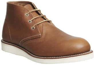 Red Wing Shoes Work Chukka Boots Tan Leather