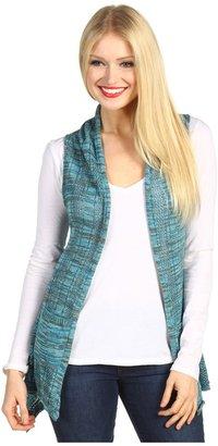 Roxy Cardiff Sweater Vest (Clear Water Stripe) - Apparel