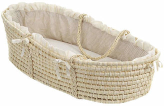 Badger Basket Moses Basket with Gingham Bedding $42.99 thestylecure.com