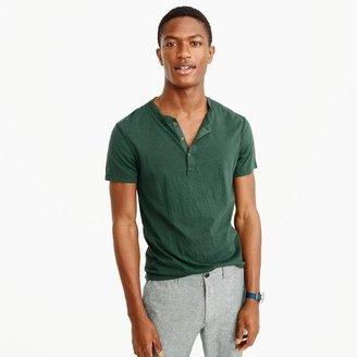 Slim broken-in short-sleeve henley $29.50 thestylecure.com