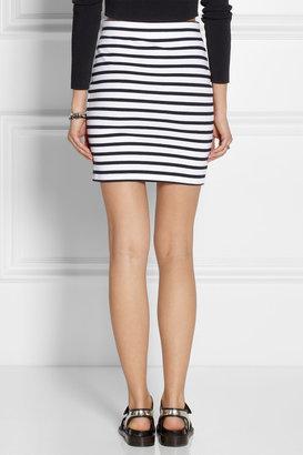 Alexander Wang Striped stretch-cotton pencil skirt