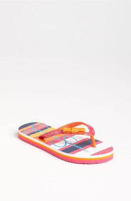 Jessica Simpson 'Madison' Flip Flop (Little Kid & Big Kid) Pink Stripe 1 M
