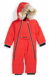 Canada Goose 'Lamb' Down Snowsuit with Genuine Coyote Fur Trim