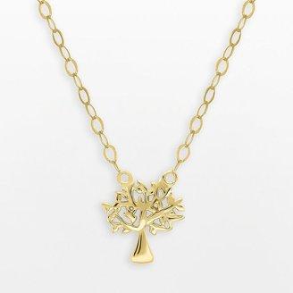 Teeny tiny by everlasting gold 10k gold family tree necklace