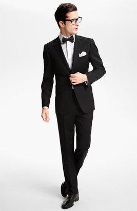 BOSS Men's 'Marlyn' Sharp Fit Stripe French Cuff Tuxedo Shirt