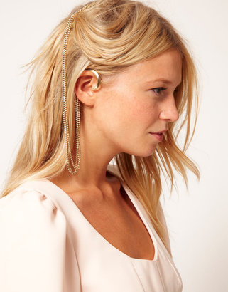 Asos Crystal Ear Cuff & Comb