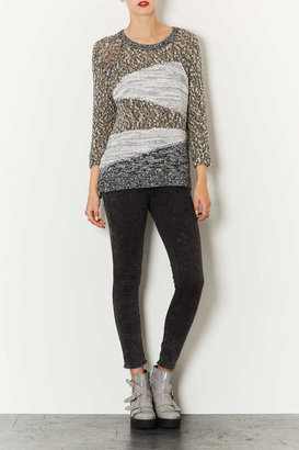 Topshop Knitted Mixed Yarn Jumper