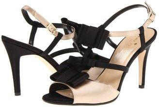Kate Spade Ivy (Champagne/Black Satin) - Footwear