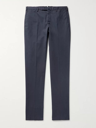 Incotex Four Season Slim-Fit Cotton-Blend Chinos - Men - Blue