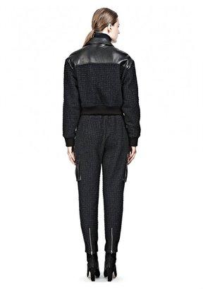 Alexander Wang Nubby Tweed Track Pants