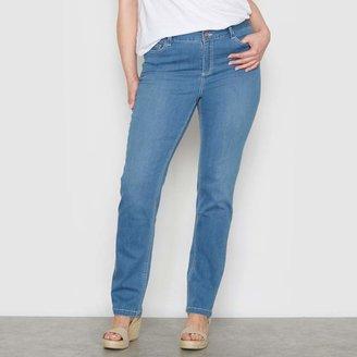 "CASTALUNA PLUS SIZE Curvy Stretch Straight Jeans, Length 28.5"""