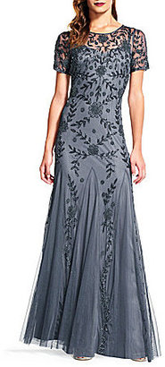 Adrianna Papell Floral Beaded Gown $360 thestylecure.com