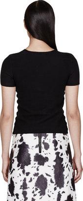 Burberry Black Silk & Merino Geometric Gem Panel T-Shirt