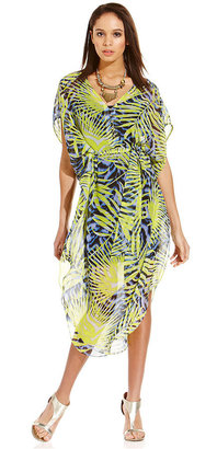 GUESS by Marciano Leaf-Print Dress