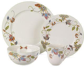 Oleg Cassini Dinnerware, Kavita 4 Piece Place Setting
