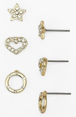 Carole 'Bling' Stud Earrings (3-Pack) (Juniors)