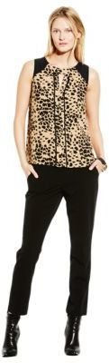 Vince Camuto Piped Animal Print Top