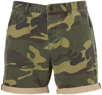 Topman Camouflage Printed Shorts