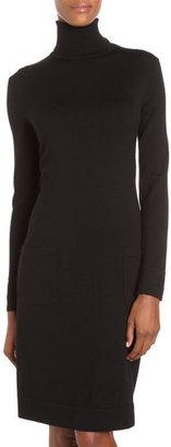 Lafayette 148 New York Lafayette 148 York Turtleneck Sweater Dress, Black
