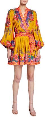 Zimmermann The Lovestruck Pleated Mini Wrap Dress