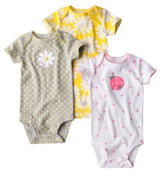 Carter's Just One You by Infant Toddler Girls' 3-Pack Bodysuit - Yellow/Grey