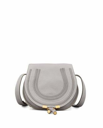 Chloe Marcie Small Leather Crossbody Bag, Gray $890 thestylecure.com