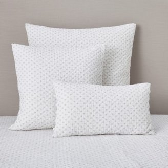 The White Company Brittany Cushion Cover, White Grey, Large Square