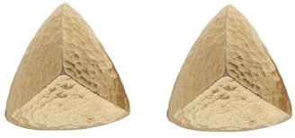 Givenchy Vintage hammered triangle earring