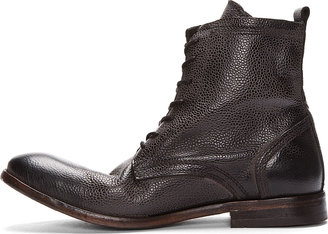 Hudson H by Black Leather Swathmore Grain Boots