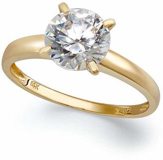 Arabella 14k Gold Swarovski Zirconia Solitaire Ring (3-1/2 ct. t.w.)