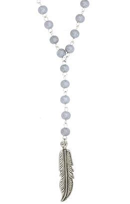 Ettika Feather Rosary Chain