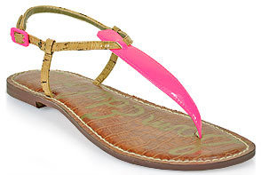 Sam Edelman Gigi - Thong Sandal in Neon Pink