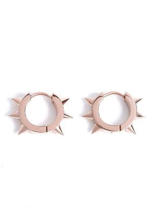 Maria Francesca Pepe MFP- MariaFrancescaPepe Spike Studded Mini Hoop Earrings