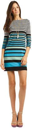 Trina Turk Mist Blue Jewel Shift Dress
