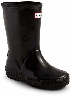 Hunter Unisex Kids First Gloss Rain Boots - Walker, Toddler, Little Kid $55 thestylecure.com