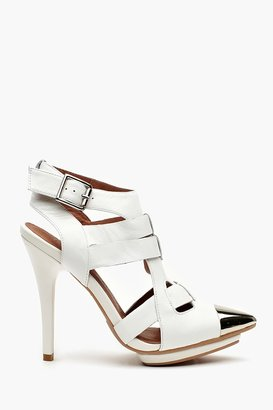 Nasty Gal Don't Even Platform - White Leather