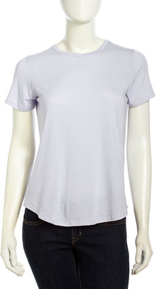 Vince Stretch Knit Short-Sleeve Shirt, Lilac